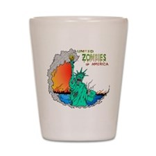 Zombies of America Shot Glass