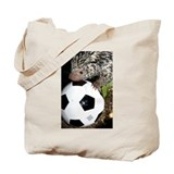 Porcupine With Soccer Ball Tote Bag