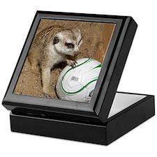 Meerkat on Soccer Ball Keepsake Box