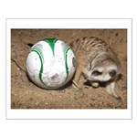 Meerkat With Soccer Ball Small Poster
