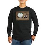 Meerkat With Soccer Ball Long Sleeve Dark T-Shirt