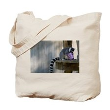 Lemur With Easter Bucket Tote Bag