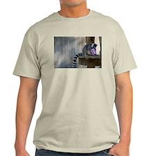 Lemur With Easter Bucket Light T-Shirt