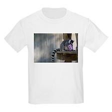 Lemur With Easter Bucket Kids Light T-Shirt