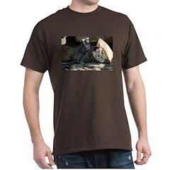 Lemur With Easter Bag Dark T-Shirt