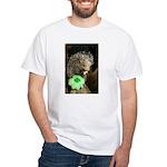 Porcupine with Shamrock White T-Shirt