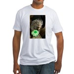 Porcupine with Shamrock Fitted T-Shirt