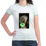 Porcupine with Shamrock Jr. Ringer T-Shirt