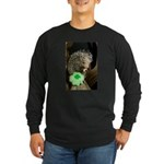Porcupine with Shamrock Long Sleeve Dark T-Shirt