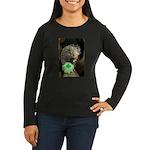 Porcupine with Shamrock Women's Long Sleeve Dark T