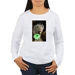 Porcupine with Shamrock Women's Long Sleeve T-Shir