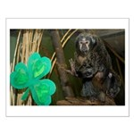 Monkey With Shamrock Small Poster