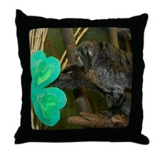Monkey Grabbing Shamrock Throw Pillow