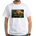 Golden Lion Tamarin with Shamrock White T-Shirt