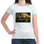 Golden Lion Tamarin with Shamrock Jr. Ringer T-Shi