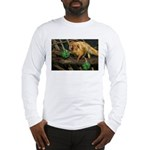 Golden Lion Tamarin with Shamrock Long Sleeve T-Sh