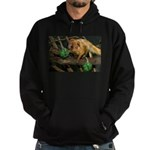 Golden Lion Tamarin with Shamrock Hoodie (dark)