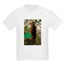 Red Ruffed Lemur with Shamrock Kids Light T-Shirt