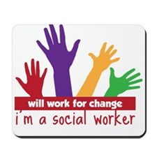 Work For Change Mousepad