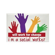 Work For Change Rectangle Magnet