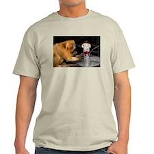 Golden Lion Tamarin With Snowman Light T-Shirt