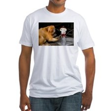 Golden Lion Tamarin With Snowman Fitted T-Shirt