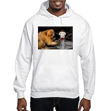 Golden Lion Tamarin With Snowman Hooded Sweatshirt