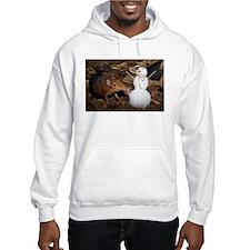 Elephant Shrew with Snowman Hooded Sweatshirt