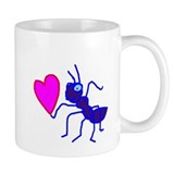 Blue Ant with Heart Coffee Mug