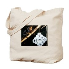 Golden Headed Lion Tamarin With Snowflake Tote Bag