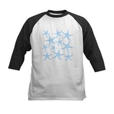 Blue Dotty Starfish Pattern. Tee