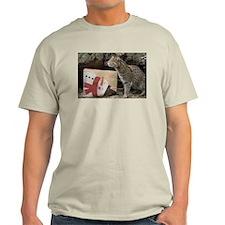 Ocelot with Snowman Bag Light T-Shirt