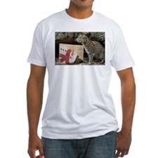Ocelot with Snowman Bag Fitted T-Shirt