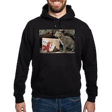 Ocelot with Snowman Bag Hoodie (dark)