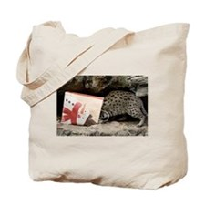 Ocelot in Snowman Bag Tote Bag
