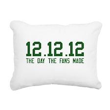 All Green Rectangular Canvas Pillow