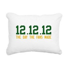 Green & Gold 12.12.12 Rectangular Canvas Pillow