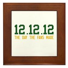 Green & Gold 12.12.12 Framed Tile