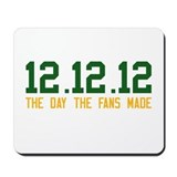 Green & Gold 12.12.12 Mousepad
