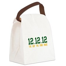 Green & Gold 12.12.12 Canvas Lunch Bag