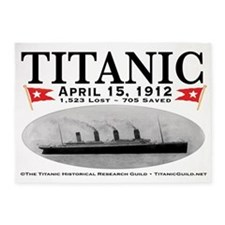 Titanic Ghost Ship (white) 5'x7' Area Rug