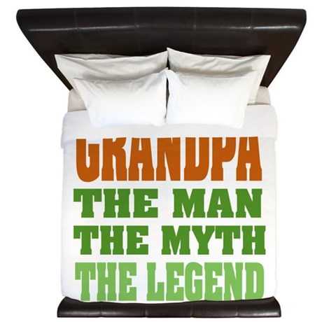 Grandpa The Legend King Duvet