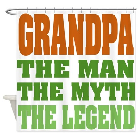 Grandpa The Legend Shower Curtain