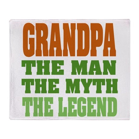 Grandpa The Legend Throw Blanket