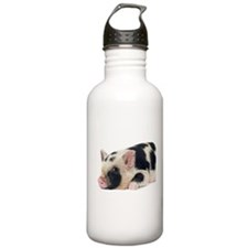 Micro pig chilling out Sports Water Bottle