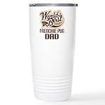 Frenchie Pug Dog Dad Ceramic Travel Mug