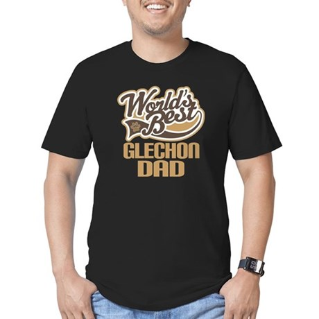 Glechon Dog Dad Men's Fitted T-Shirt (dark)