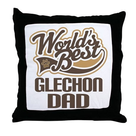 Glechon Dog Dad Throw Pillow