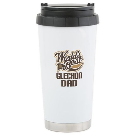Glechon Dog Dad Ceramic Travel Mug