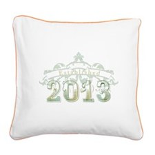 Established 2013 Square Canvas Pillow